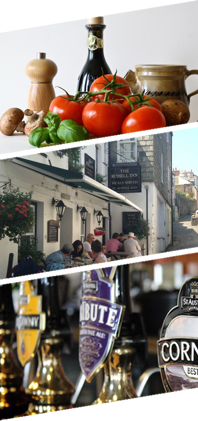 Dinner and bar meals The Russell Inn Pub Polruan Fowey
