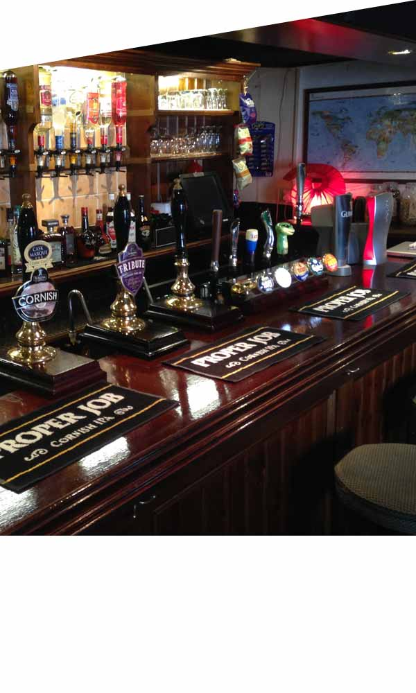 Beers and Ale at the Russell Inn Pub Polruan Fowey